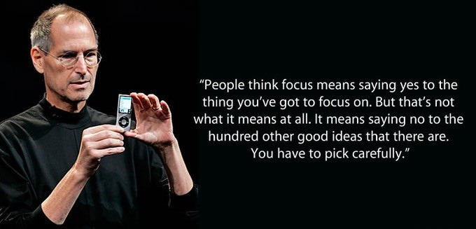 People think focus means saying yes