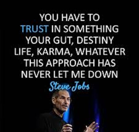 You have to trust