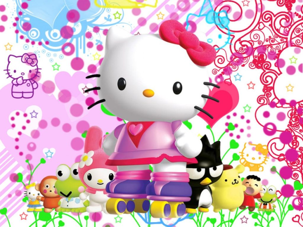 Cute Hello Kitty Ice Skating Wallpaper Wallpapers Arena