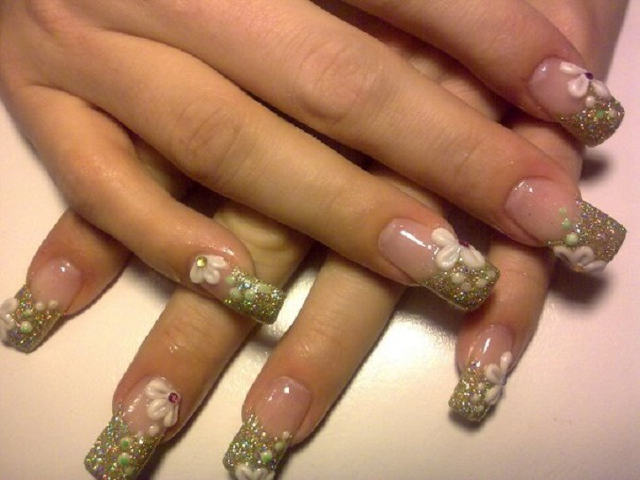 35 coolest eye catching nail art designs spring nail art designs prinsesfo Gallery