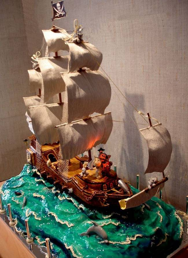 pirates wedding cake