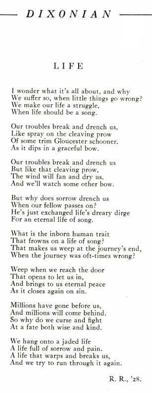poem for life