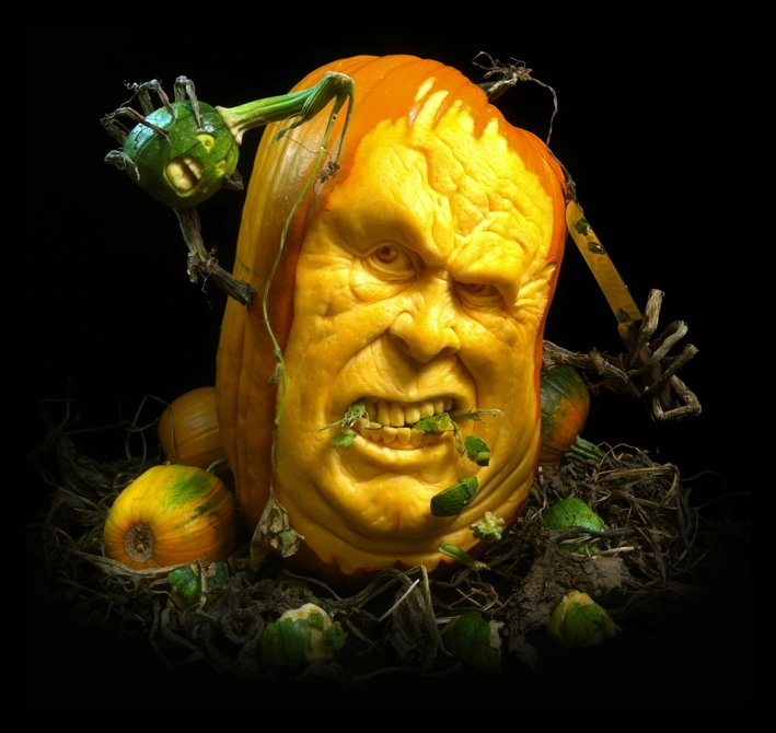 wild pumpkin carving