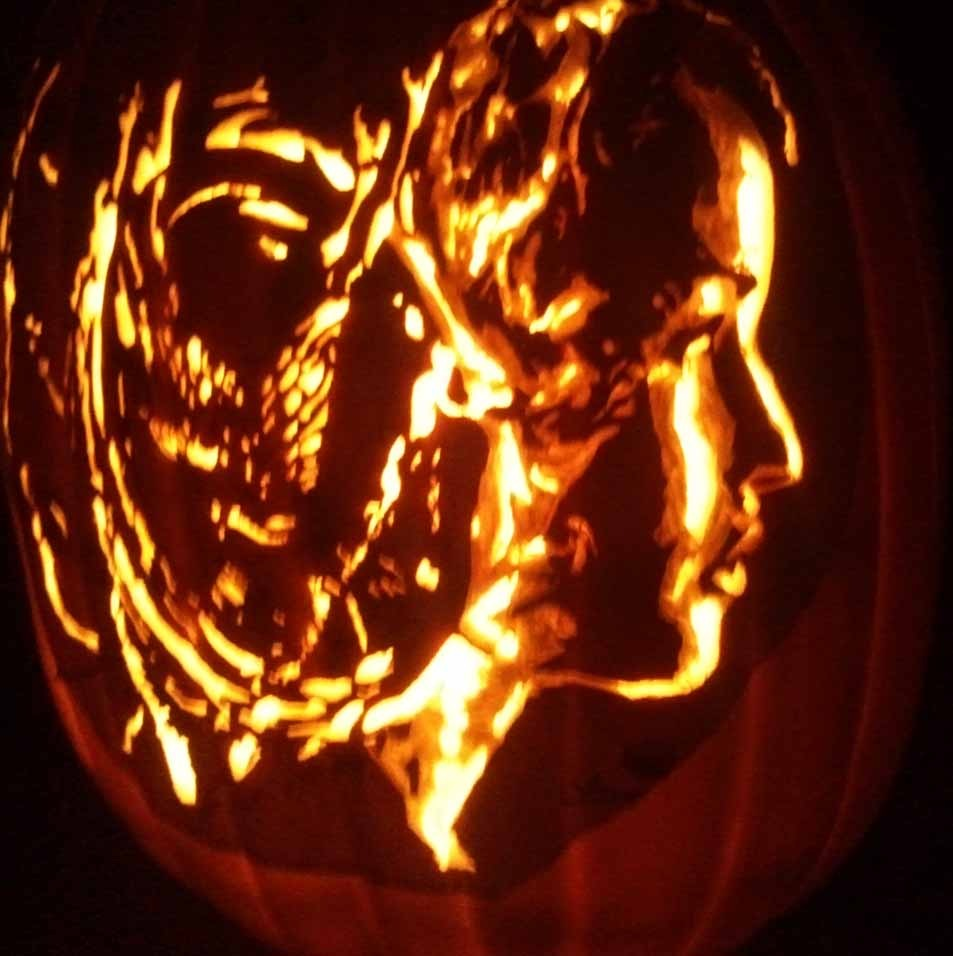 woman pumpkin carvings