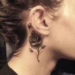 Flower-Neck-Tattoos-For-Women
