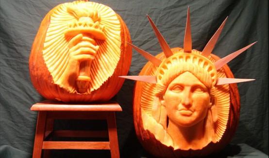 Liberty-Statue-Halloween-Pumpkin