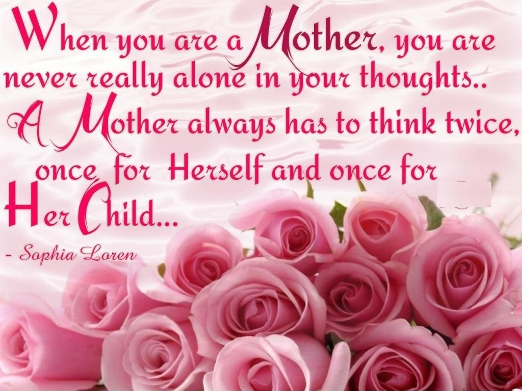 Mother Think twice quote