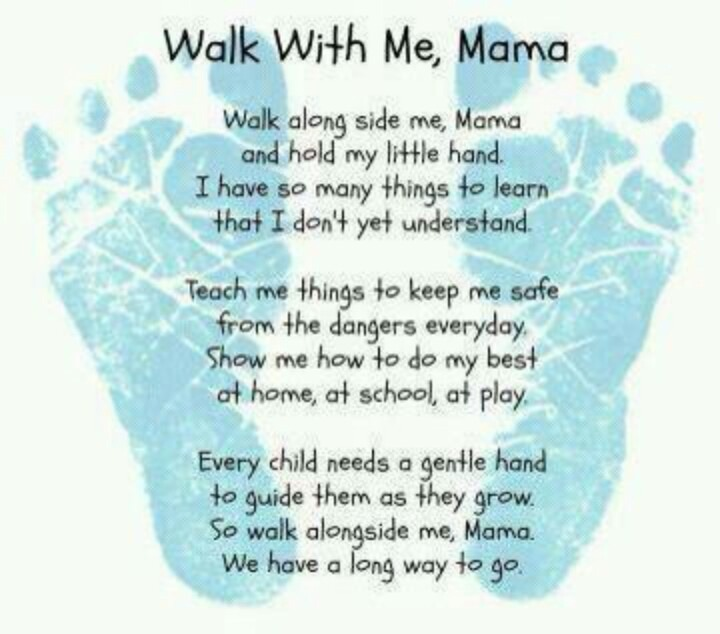 mother walk with me poem