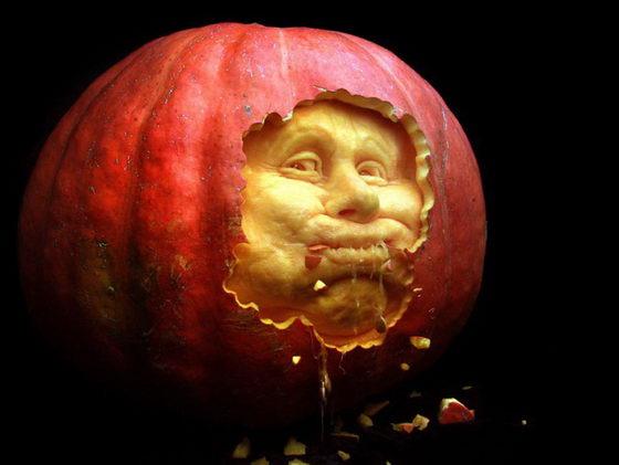 Smashing Pumpkin Carving