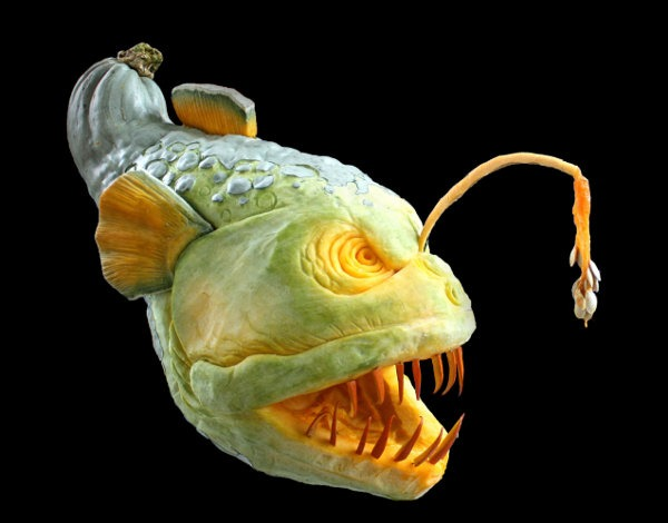 angler pumpkin carvings