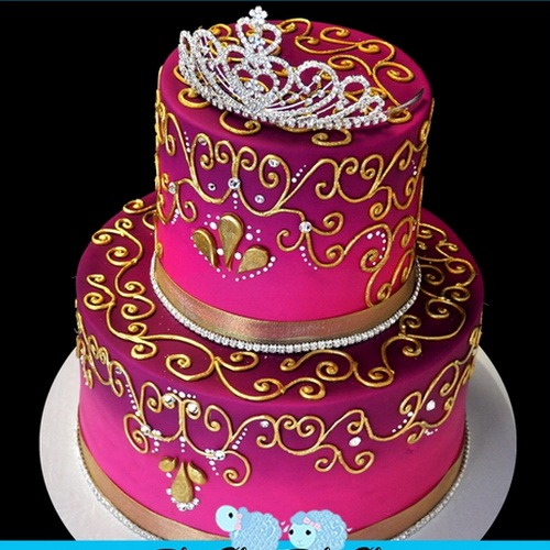 Luxurious Princess Birthday Cakes Machine Cake Design
