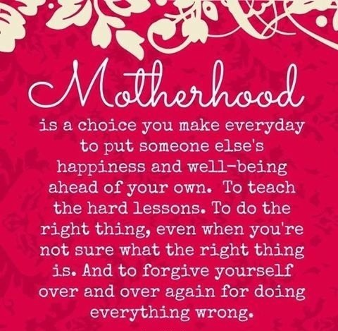Motherhood - Mother days quote