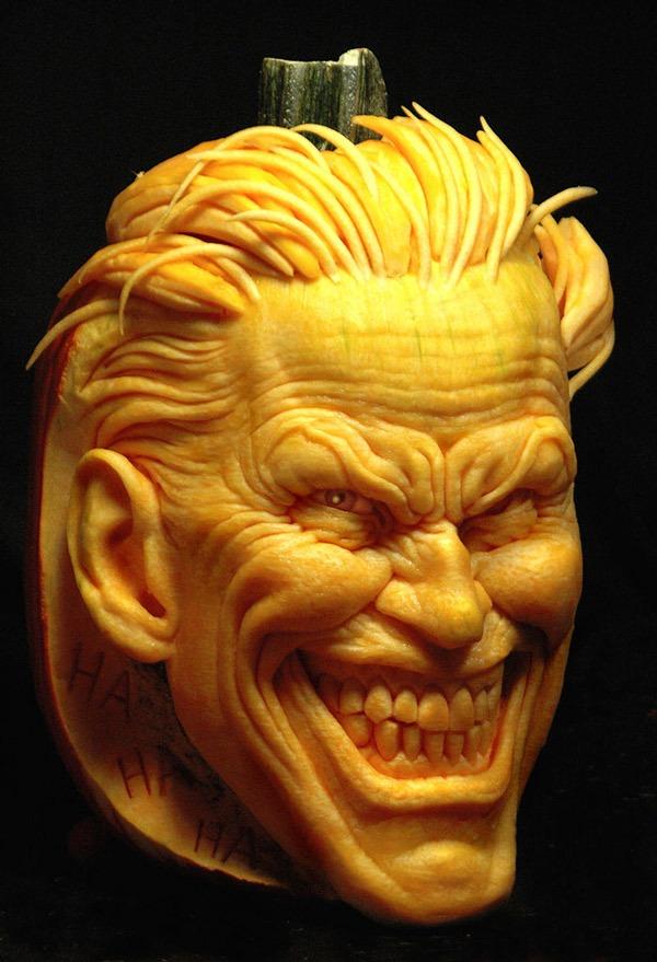 Pumpkin Carving Of The Joker