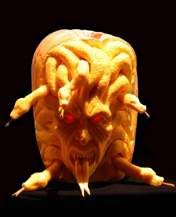 medusa pumpkin-carving