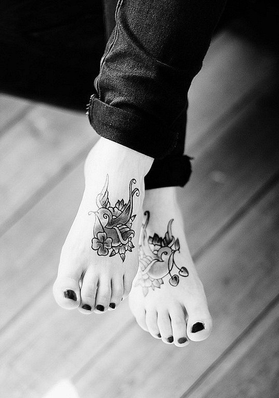 cute foot tattoos