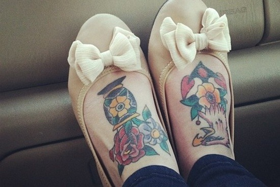 foot tattoo art