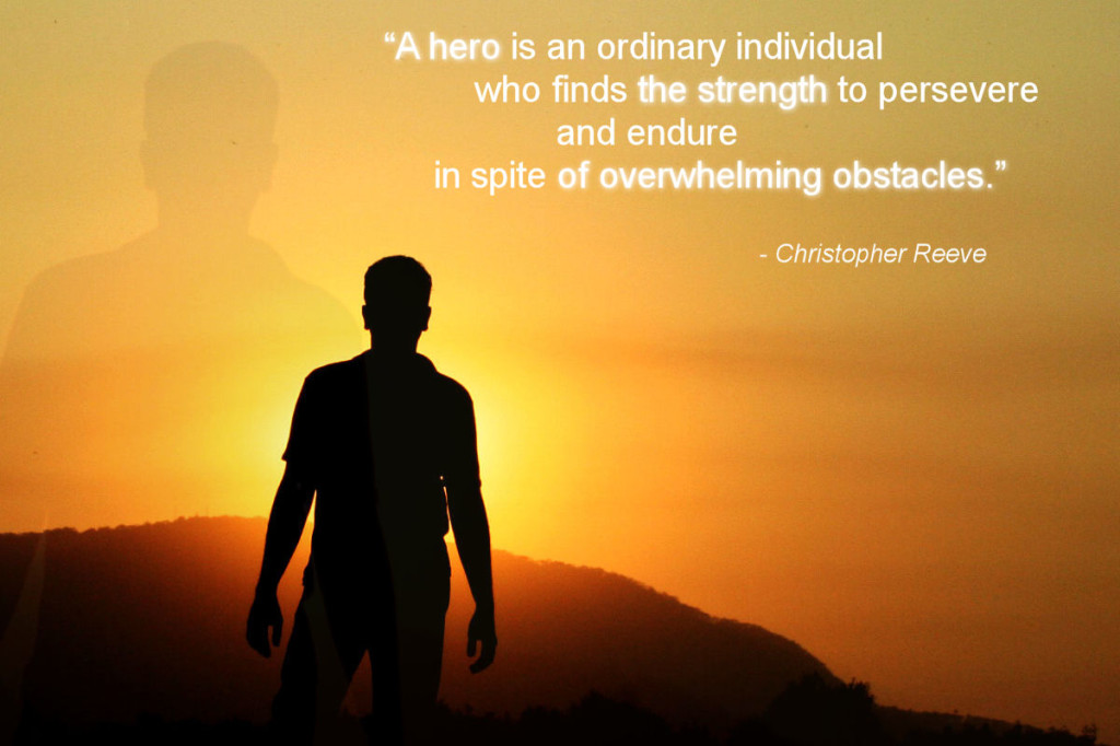 Motivational hero quote