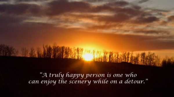 truly happy person