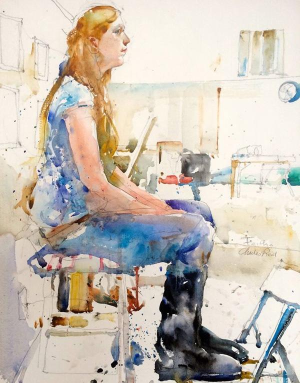 Charles-Reid water colour paintings
