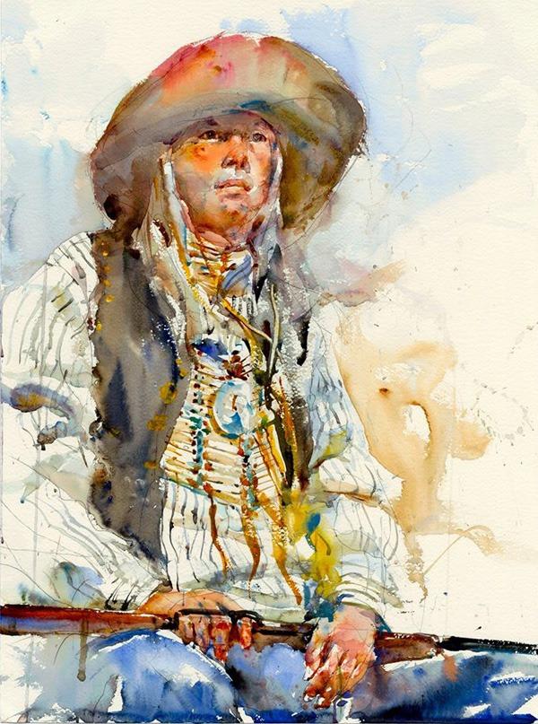 Watercolor Paintings by Charles Reid figurative