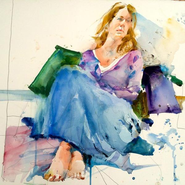 Charles-Reid watercolor painting