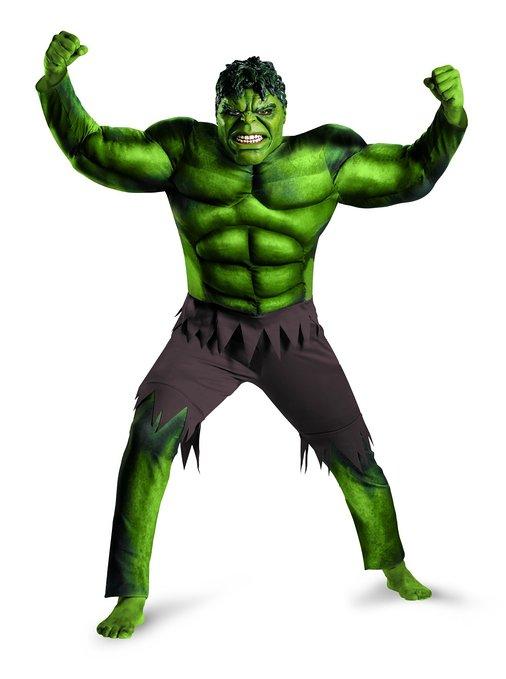 Hulk Avengers Classic Muscle Adult Costume