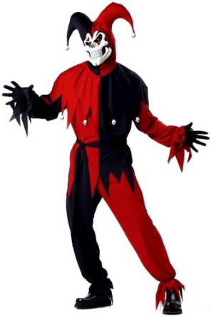 Red Evil Jester Costume