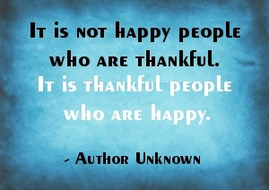 Thankful People Are Happy One