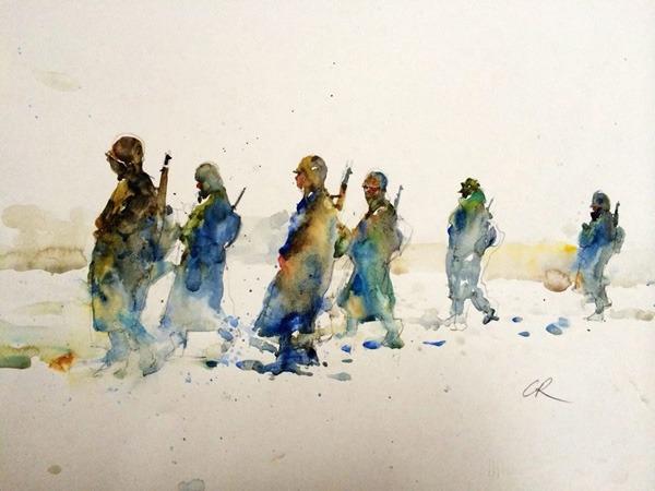 Watercolor Figurative Paintings Charles Reid