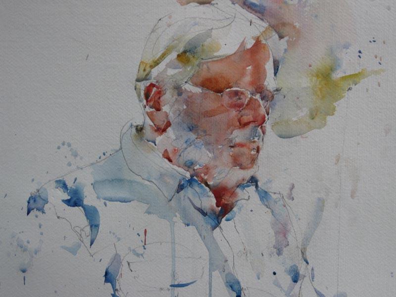 Watercolor Figurative portraits Charles Reid