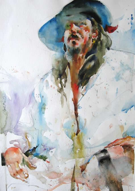 20 Figurative Watercolor Paintings by Charles Reid