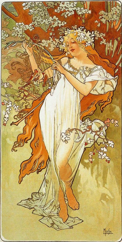 spring Alphonse Mucha Paintings