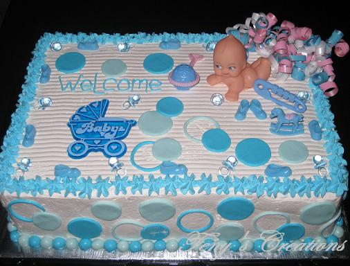 Blue Baby Shower Cake for boy
