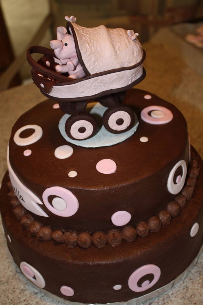 Easy Homemade Baby Shower Cake