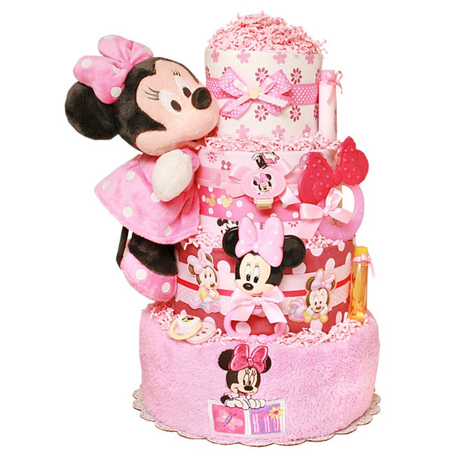 Minnie Mouse Baby Girl Shower Cakes