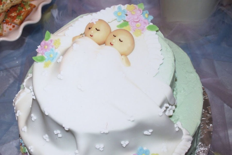 Twin Baby Shower Cakes Pictures