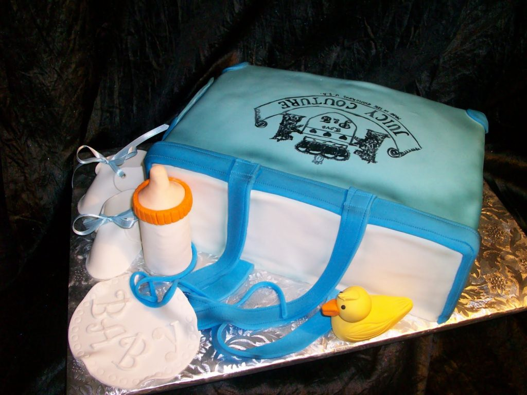 baby bag shower cakes