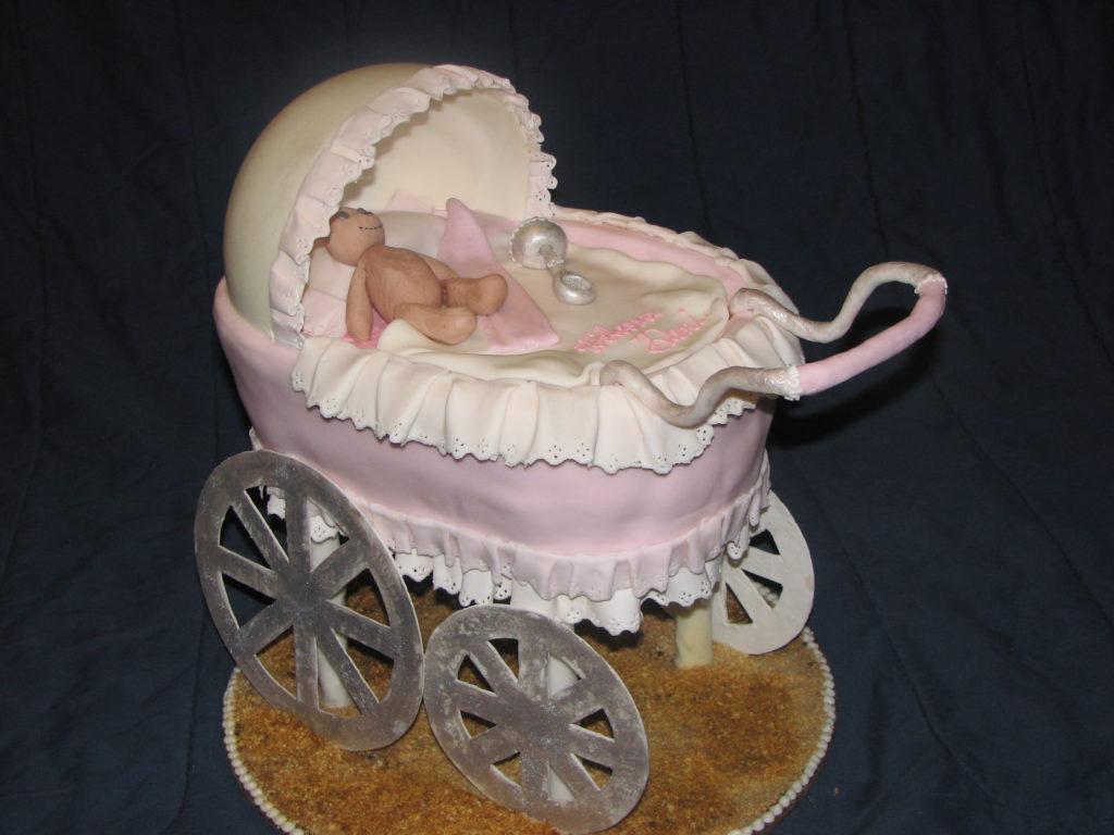 baby pram cake