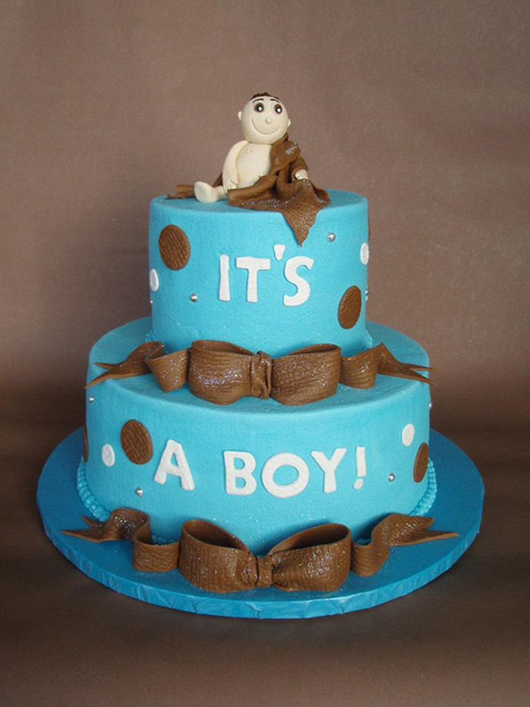 blue Baby-Shower-Cake-for-Boys