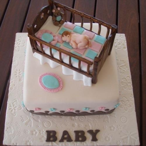creative baby crib cake