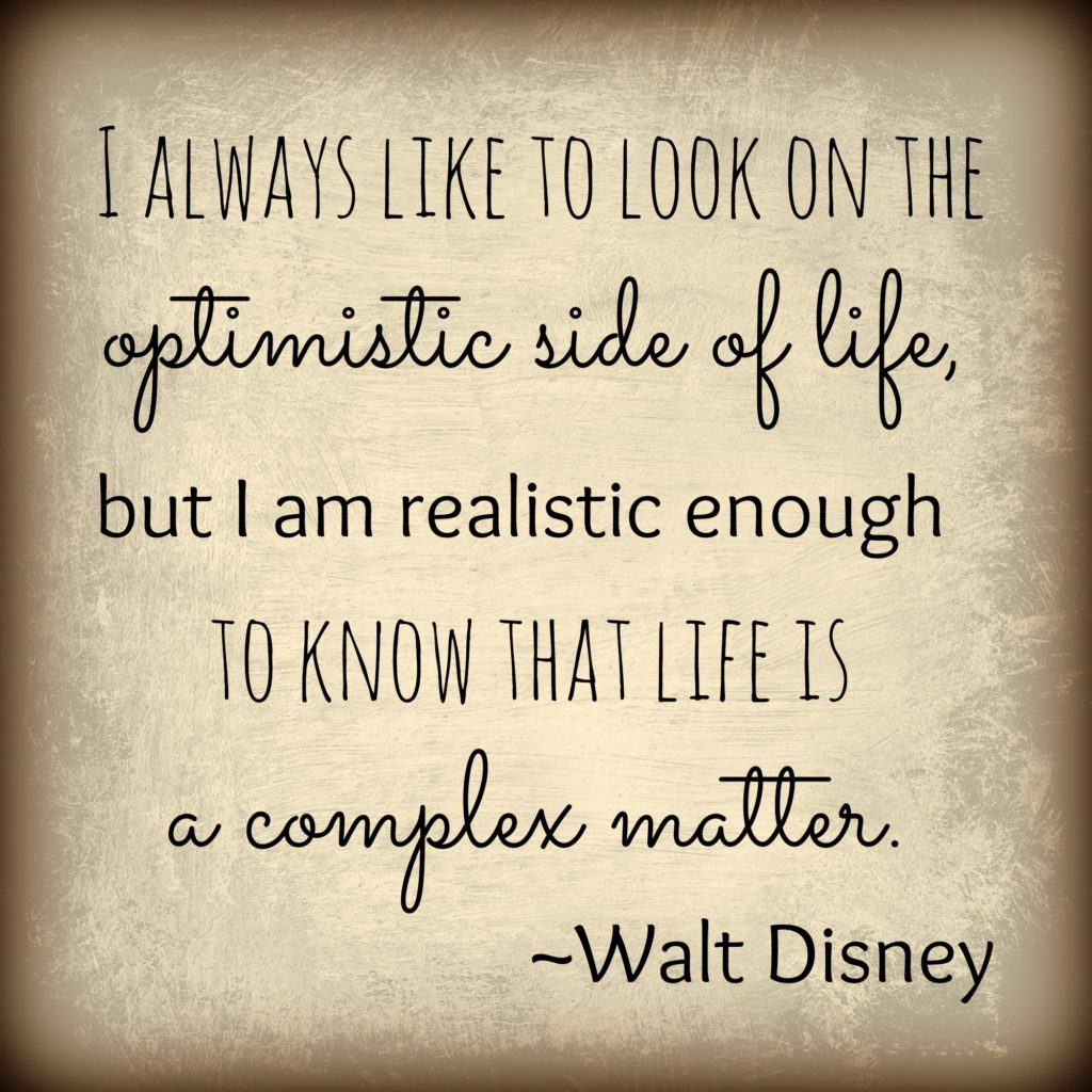 walt disney optimism quote