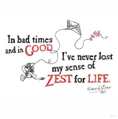 zest of life quote