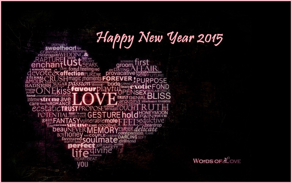 black new year wallpaper 2015