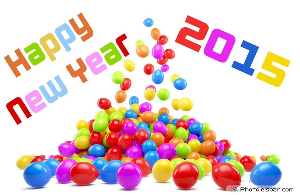 Happy-New-Year-2015 balloons