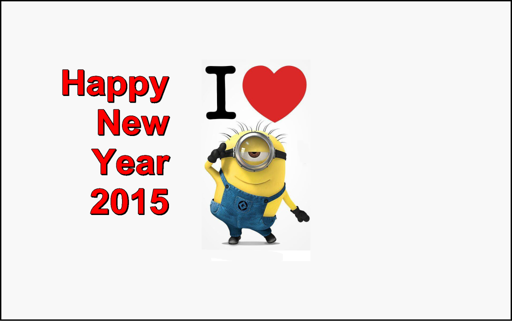 Minion new year wallpapers 2015