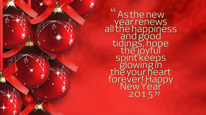 happy new year 2015 message