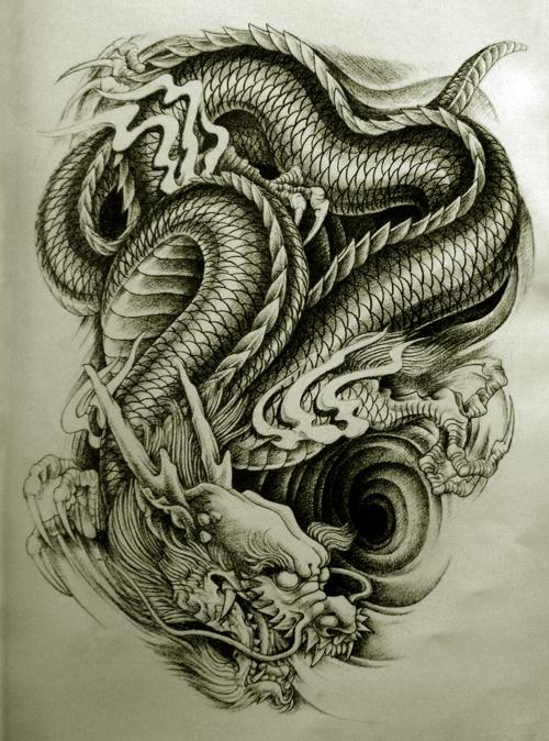 Black-dragon-tattoo