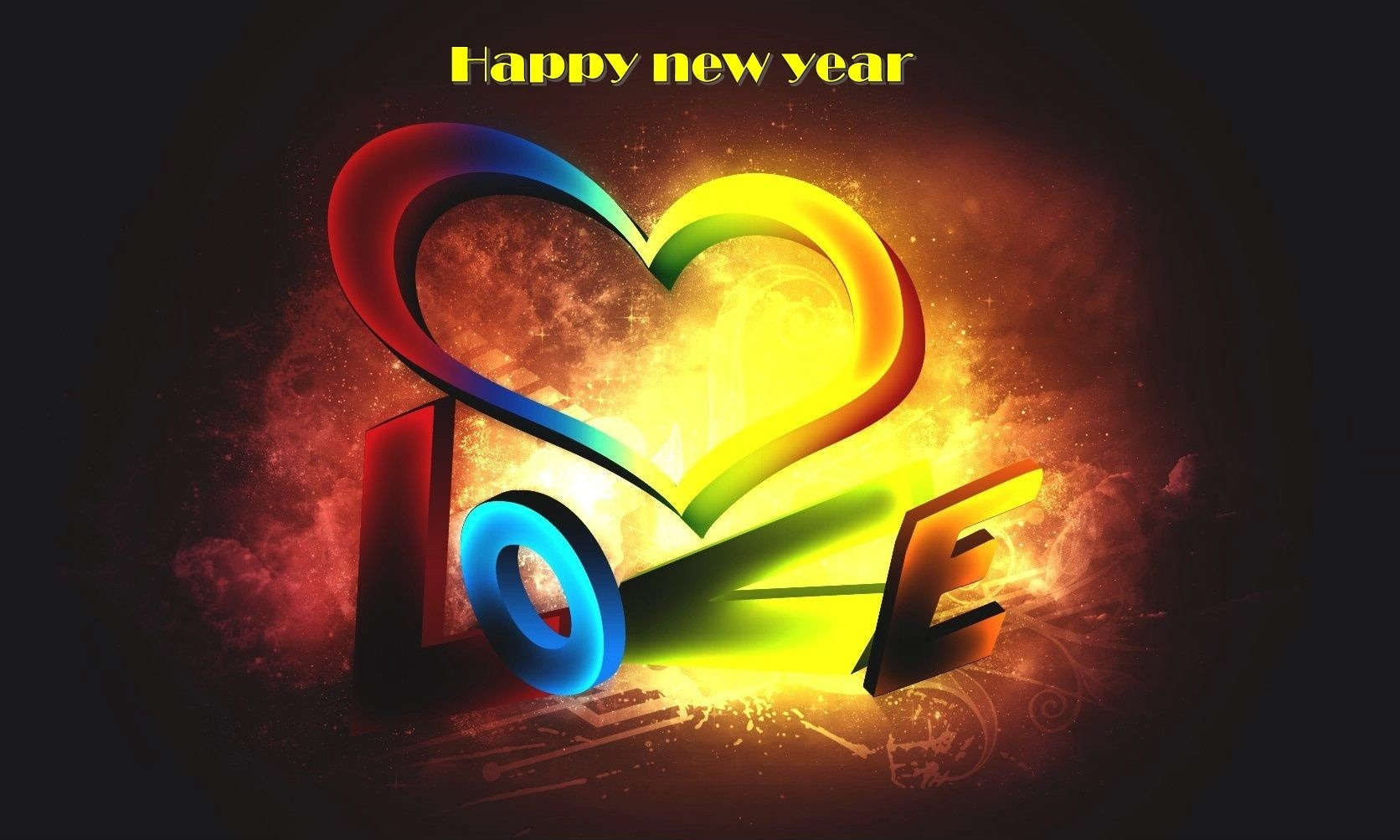 Awesome 3d Wallpaper Happy New Year 2015 With Love Freshboo